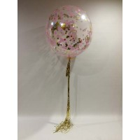 3 Foot Balloon With Confetti and Metallic Tasseling $85