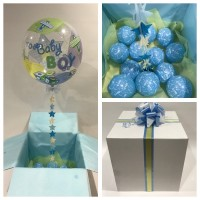 Baby Boy Deco Bubble Balloon in a Box $85