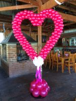Hot Pink Heart Backdrop with a bow $190