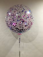 3 Foot Purple & Pink Confetti $55