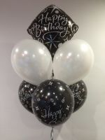 Table Bouquet (White, Printed & Birthday Foil Header) $36.50