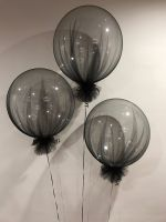 Deco Bubble With Black Tulle $45 each