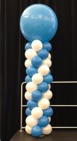 3 Foot Robins Egg Blue & White Column $100