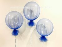Deco Bubble With Sapphire Tulle $45 each