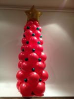 Red Christmas Tree With Baubles $175