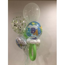 Its a Boy, Deco Bubble Rattle, Confetti and Tulle