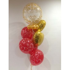 Happy Anniversary Bubble and Hearts