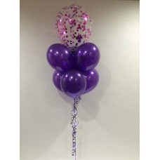 Confetti, Purple Latex and Sparkle Ribbon