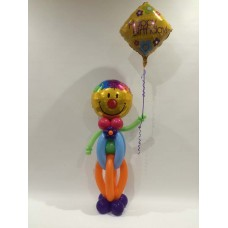 Small Stand Up Happy Birthday Clown