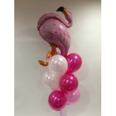 Flamingo Shaped Foil and 9 Latex