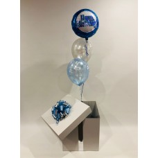 Happy Birthday Foil and 2 Printed Latex Balloons in a Box