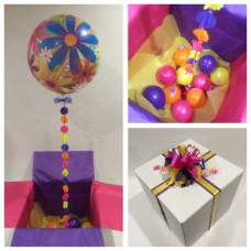 Bright Flower Deco Bubble Balloon in a Box