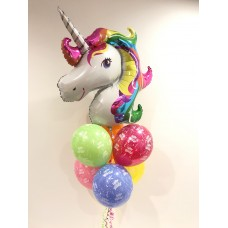 Bright Unicorn and Happy Birthday Latex