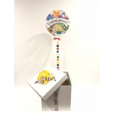 Congratulations Deco Bubble Balloon in a Box