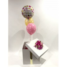 Happy Birthday Foil and 2 Happy Birthday Printed Latex Balloons in a Box