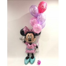 Minnie Mouse Airwalker and Birthday Bouquet