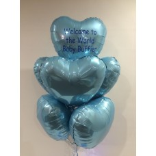 Personalised Message (7 Foil Hearts)