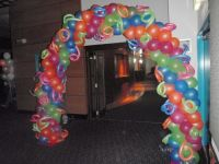 Air filled balloon arch