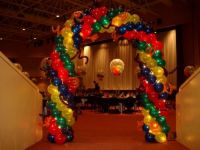 Carnival Arch With Fairy Lights & Squiggles $375