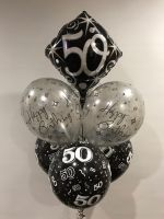 Table Bouquet (Printed & 50th Foil Header) $39.50