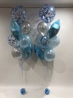 Blue Stars, Silver Latex & Dark Blue Confetti $95 each