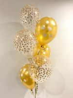 Floor (6) Gold Speckle & Gold Polka Dot Prints $31