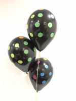 Table Bouquet (3) Black Neon Polka Dot $16.50