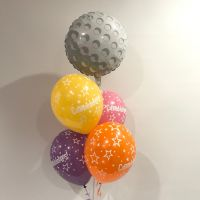 Table Bouquet (4 x Congrats & Golf Ball Foil) $32.50