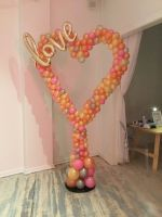 Organic Heart Photo Backdrop With Love Script $160