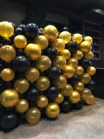Black and Gold Bubble Wall $650