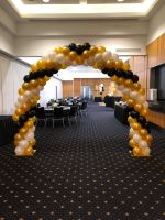 Black, Gold & White Arch $300