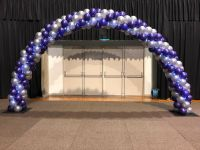 Purple & Silver AIS Arch With Fairy Lights $400