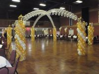 Gold, Ivory Hexagonal Canopy $850
