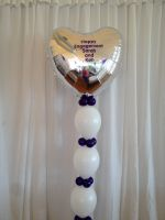 Large Personalised Foil Heart & Linkoloons $65