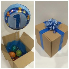 Baby Boy First Birthday Balloon in a Box
