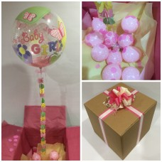 Baby Girl Deco Bubble Balloon in a Box