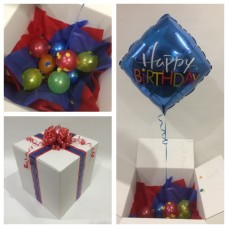 Blue Diamond Happy Birthday Balloon In A Box