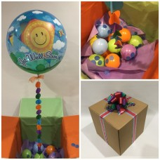 Get Well Deco Bubble Balloon in a Box