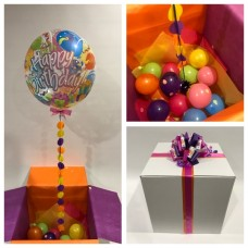 Happy Birthday Balloon Print Deco Bubble In A Box