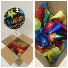 Happy Birthday Balloon and Party Favours in a Box