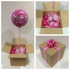 Happy Birthday Pink Balloon In A Box