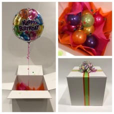 Happy Birthday Radiant Balloon in a Box