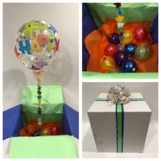 Happy Birthday Star Print Balloon in a Box