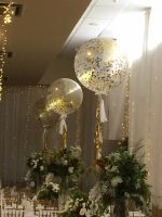Gold 3 Foot Confetti and White Tassels